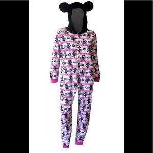 Disney Minnie Mickey Mouse Fair Isle Hooded small